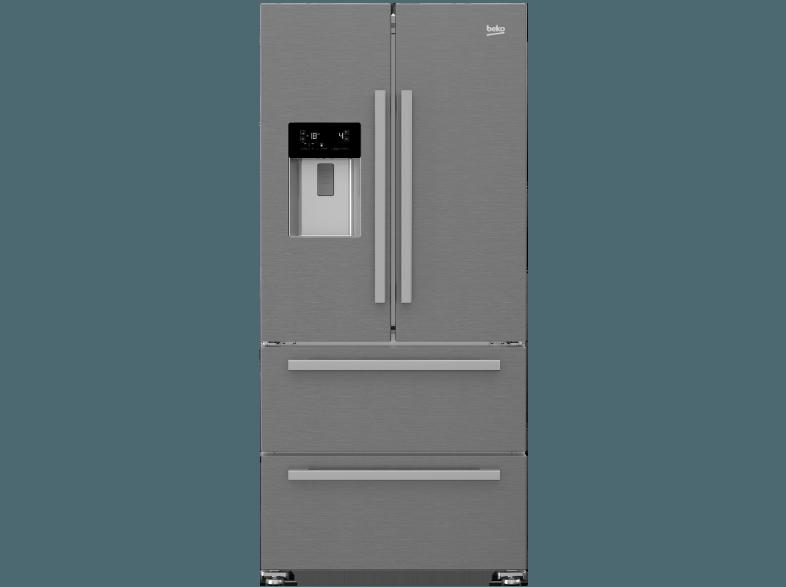 bedienungsanleitung beko gne 60530 dx side by side 358 kwh jahr a 1825 mm hoch edelstahl. Black Bedroom Furniture Sets. Home Design Ideas