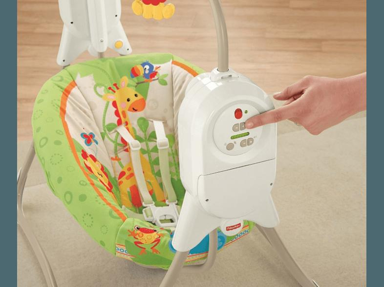 FISHER PRICE BFH05 Rainforest Babyschaukel Weiß