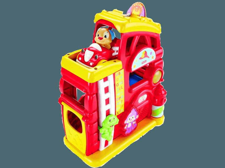 FISHER PRICE CGR79 Lernspass Feuerwache Rot