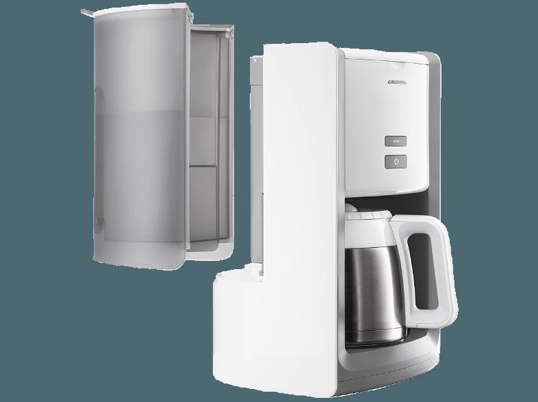 ... GRUNDIG KM 8280w   Kaffeemaschine White Sense Kaffeemaschine  Weiß/Edelstahl (Isolierkanne)