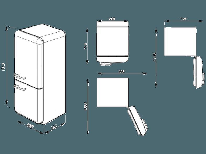 Smeg Kühlschrank Handbuch : Bedienungsanleitung smeg fab32lbln1 kühlgefrierkombination 229 kwh