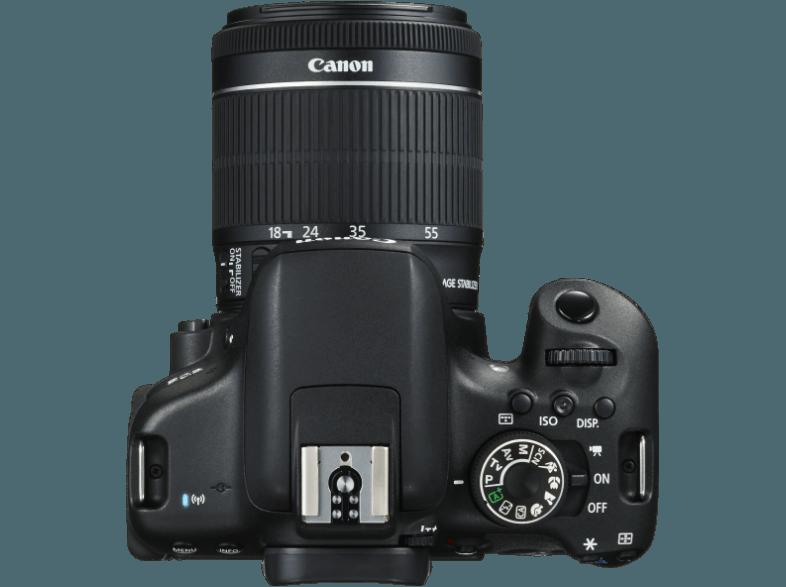 CANON EOS 750D   CS 100 Connect Station Spiegelreflexkamera 24.2 Megapixel mit Objektiv 18-55 mm f/3.5-5.6, 7.7 cm Display   Touchscreen