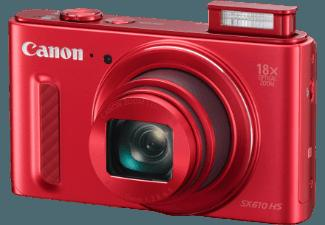 CANON Power Shot SX610 HS  Rot (20.2 Megapixel, 18x opt. Zoom, 7.5 cm sRGB-PureColor-II-G-LCD, WLAN)