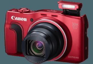 CANON PowerShot SX710 HS  Rot (20.3 Megapixel, 30x opt. Zoom, 7.5 cm sRGB-PureColor-II-G-LCD, WLAN)