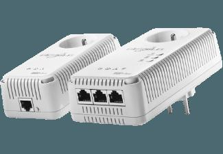 DEVOLO 1825 dLAN® 500 AV Wireless  Powerline Starter Kit HomePlug Modem mit integriertem Access Point