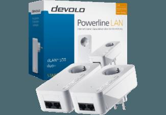 DEVOLO 9297 dLAN® 550 duo  Powerline Starter Kit Netzwerkadapter