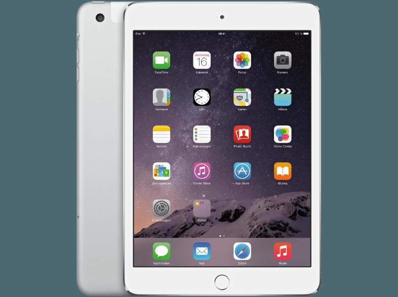 APPLE MGHW2FD/A iPad Mini 3 16 GB  Tablet Silber