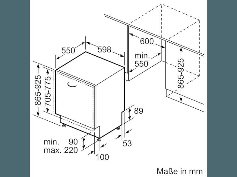 bedienungsanleitung bosch sbv69n70eu geschirrsp ler a 598 mm breit 42 db a edelstahl. Black Bedroom Furniture Sets. Home Design Ideas