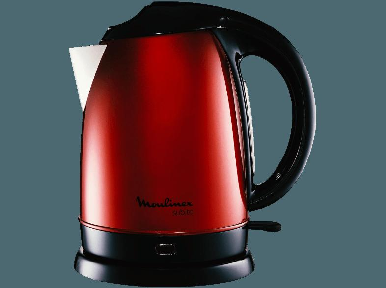 Moulinex BY5305 Wasserkocher Subito Edelstahl 1,7 Liter rot