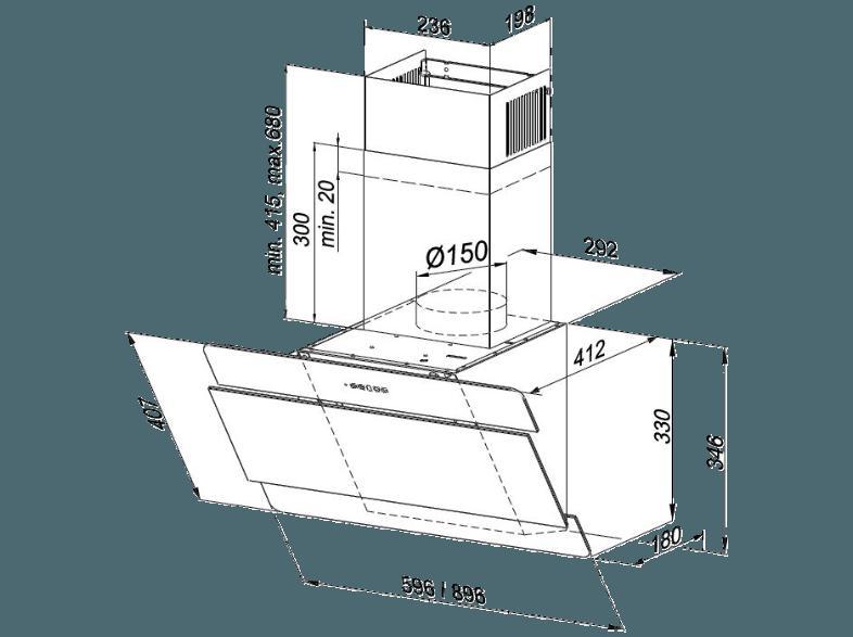 bedienungsanleitung oranier 9952 61 kandia 60 e dunstabzugshaube 412 mm tief bedienungsanleitung. Black Bedroom Furniture Sets. Home Design Ideas