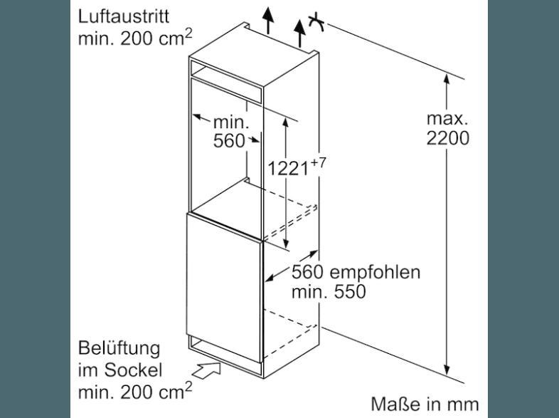 ... Weiß SIEMENS KI41FAD30 Kühlschrank (120 KWh/Jahr, A , 1221 Mm Hoch, ...