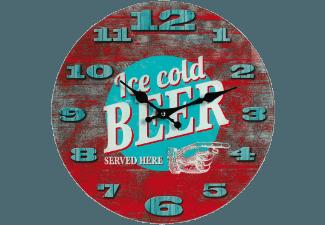 OUT OF THE BLUE 79/3085 Ice cold Beer Wanduhr