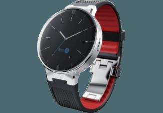 ALCATEL OT WATCH Schwarz/Rot (Smart Watch)