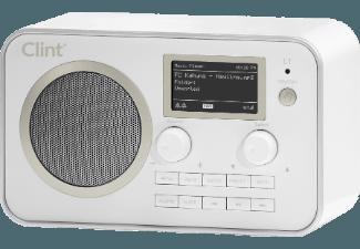 CLINT L1  (Digital, DAB , DAB, FM, Weiß)