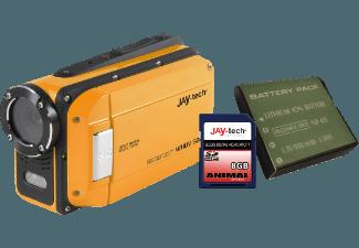 JAY-TECH 77007418 WATERCAM WHDV 5008 inkl. AKKU   8 GB SPEICH Watercam Orange (Wasserdicht bis: bis zu 3 m, CMOS, )