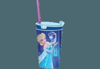 BROSZIO 1709 Snacky Magic JR Frozen Elsa Snack- und Trinkbecher