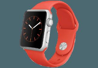 APPLE Watch 38 mm Aluminium mit Sportband (MLCF2FD/A) Orange (Smart Watch)