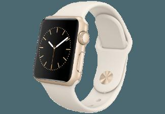 APPLE Watch 38 mm Aluminium mit Sportband (MLCJ2FD/A) Gold/Antique Weiß (Smart Watch)
