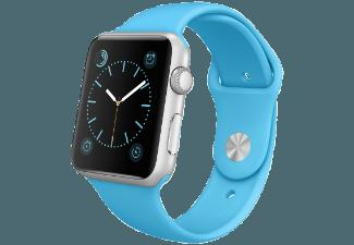APPLE Watch 42 mm Aluminium mit Sportarmband (MLC52FD/A) Blau/Silber (Smart Watch)