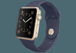 APPLE Watch 42 mm Aluminiumgehäuse mit Sportarmband (MLC72FD/A) Gold/Midnight Blau (Smart Watch)
