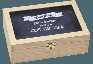 CONTENTO 866381 TEABOX Everything gets better with a Cup of Tea Teebox