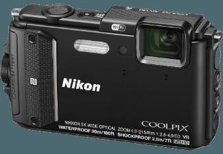 NIKON COOLPIX AW 130 Outdoor Kit  Schwarz (16 Megapixel, 5x opt. Zoom, 7.5 cm , WLAN)