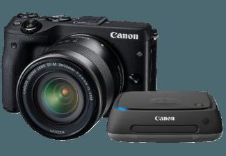 CANON EOS M3   CS 100 Connect Station Systemkamera 24.2 Megapixel mit Objektiv 18-55 mm f/3.5-5.6, 7.5 cm Display   Touchscreen, WLAN