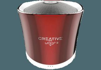 CREATIVE Woof 3 BT Bluetooth Lautsprecher Rot