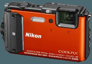 NIKON COOLPIX AW 130  Orange (16 Megapixel, 5x opt. Zoom, 7.5 cm OLED, WLAN)